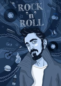 Andreas Denzer - Hamburger Illustrator & Designer • Rock 'n' Roll, Rockabilly • www.andreasdenzer.de