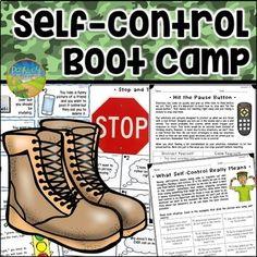 Self Control Boot Camp by Pathway 2 Success Bubble Activities, Emotions Activities, Work Activities, Time Management Activities, Behavior Management, Self Regulation Strategies, Oppositional Defiant Disorder, Understanding Emotions, Impulse Control