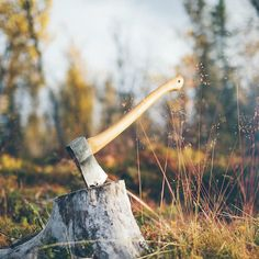 The woodcutter's ax--I saw this out of the corner of my eye and thought it was a girl sitting with her arm outstretched