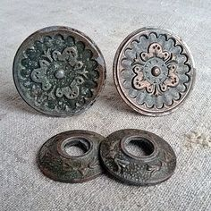 Vintage shabby pair door handle Retro door knob by MyWealth