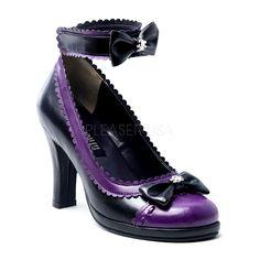 Demonia Lolita Shoes - Purple