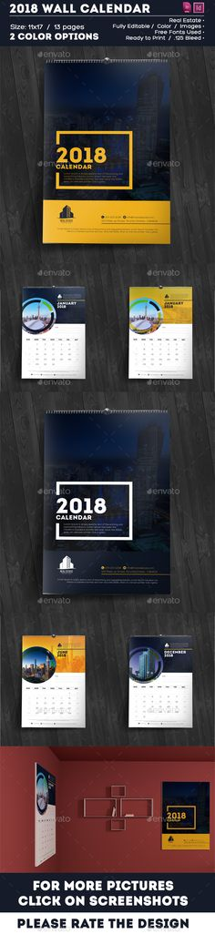 #Calendar - 2018 Creative & Modern #Multipurpose Wall Calendar - Calendars #Stationery