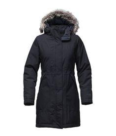Converse women's heavyweight parka jacket jet black