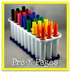 Little Miss Kindergarten-  Water bottle ice trays, need to get this.