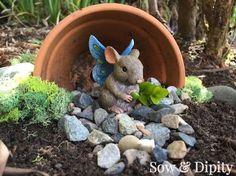 fairy gardens in the garden, container gardening, crafts, gardening, how to