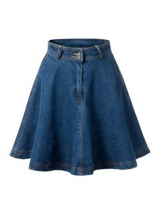 SHARE & Get it FREE | Deep Blue Flare High Waist Denim Skirt - Deep BlueFor Fashion Lovers only:80,000+ Items • New Arrivals Daily Join Zaful: Get YOUR $50 NOW!