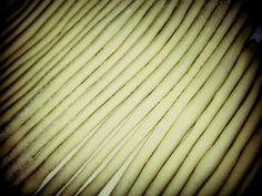 Homemade umbrichelli pasta