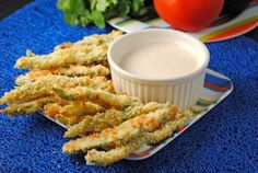 Baked Poblano Fries with Spicy Ranch Dipping Sauce ~ July's #SecretRecipeClub! | Juanita's Cocina