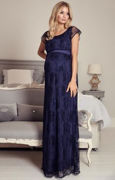 April Nursing Lace Gown Arabian Nights by Tiffany Rose. Detailed in elegant floral lace with baby-soft jersey lining, the wrap around bodice provides hidden access allowing you to nurse in discreet and stylish comfort Maternity Evening Gowns, Maternity Dresses, Maternity Fashion, Tiffany Rose, Bustiers, Pregnant Wedding Dress, Maternity Wedding, Nursing Gown, Breastfeeding Dress
