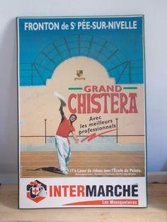 Plaque bois dédicacée GRAND CHISTERA FRONTON ST PEE-SUR-NIVELLE / PELOTE BASQUE   eBay