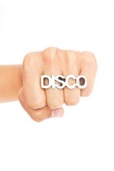 Disco Two-Finger Ring