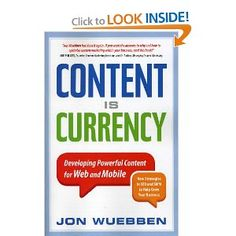 Content Is Currency - by Jon Wuebben (Paperback) Content Marketing Strategy, Social Media Marketing, Search Engine Marketing, Search Engine Optimization, Book Lists, Seo, Writing, How To Plan, Savings Plan