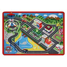 Unleash your little one's imagination with the Paw Patrol Adventure Bay Game Rug. The design of the rug shows where your favorite Paw Patrol characters help and . Paw Patrol Games, Nick Jr Paw Patrol, Paw Patrol Toys, Paw Patrol Party, Paw Patrol Birthday, Paw Patrol Bedroom, Cumple Paw Patrol, Toys R Us, Kids Bedroom