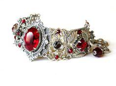 Hey, I found this really awesome Etsy listing at https://www.etsy.com/listing/188270770/red-swarovski-bracelet-silver-crystal