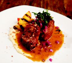 Recipe of the Week: Whiskey Braised Pork with Grilled Peaches and Baconnaise