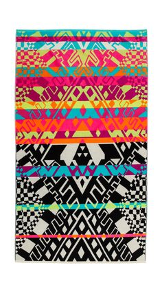 Whether you're beachside, poolside, or just hanging on your lawn or apartment's roof, add some personality to your lougne spot with a bright towel. Shop the season's 18 most colorful, including this Mara Hoffman Horizon Towel.