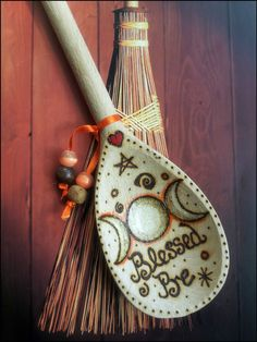 GODDESS Blessed Be Wooden Spoon Wall Hanging. Pagan Wicca Witch. WITCHES KITCHEN