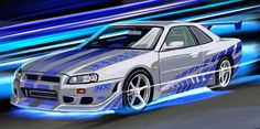 Nissan Gtr 34, Nissan Skyline Gtr, Paul Walker Car, Paul Walker Wallpaper, R34 Gtr, Jdm Wallpaper, Cool Sports Cars, Fast And Furious, Dream Cars