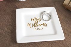 How adorable is this custom ring dish??
