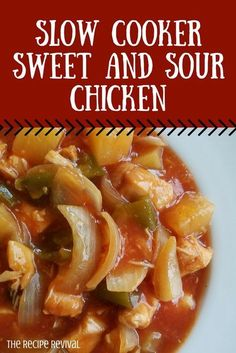 Slow Cooker Sweet and Sour Chicken #slowcooker #crockpot #sweetandsour #chicken
