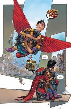 Teen Titans #1 interior art - Robin by Kenneth Rocafort << yet another reason to love Tim Drake