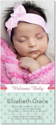 Adorable Beginning - Studio Basics: Birth Announcements - Multiple Blessings - Medium Pink  #baby