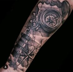 tattoo map tattoos, trendy tattoos и Arm Sleeve Tattoos, Tattoo Sleeve Designs, Forearm Tattoos, Body Art Tattoos, Ankle Tattoos, Arrow Tattoos, Ship Tattoo Sleeves, Navy Tattoos, Trendy Tattoos
