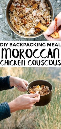 Going camping? Try these camping tips and hacks! A super simple homemade backpacking meal. Takes less than 5 minutes to cook on the trail and is full of Hiking Food, Backpacking Food, Ultralight Backpacking, Hiking Tips, Hiking Gear, Backpacking Checklist, Camping Menu, Camping Recipes, Kayak Camping