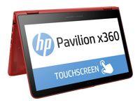 "HP Pavilion x360 11-K131TU - Flip design - Celeron N3050 / 1.6 GHz - Windows 10 Home 64-bit Edition - 4 GB RAM - 500 GB HDD - no optical drive - 11.6"" touchscreen 1366 x 768 ( HD ) - Intel HD Graphics - 802.11ac - sunset red p/n: P3V87PA"