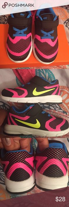 Nike Premier Run NWT black/volt pink/photo blue. Never worn. Laceless and Velcro Nike Shoes Sneakers