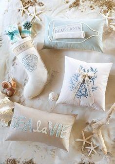 EA Holiday Luxury Home Decor - Wish List in a Bottle Coastal Christmas Decor, Nautical Christmas, Tropical Christmas, Beach Christmas, Office Christmas, Blue Christmas, Coastal Decor, Christmas Home, Christmas Holidays