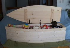 Wooden boat toy chest - need someone crafty to build this though!