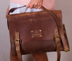 Dirty Harry Leather Bag-Indian Brown #leatherbag #brown http://shop.uncovet.com?lrRef=kZJxkW