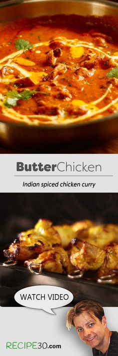 A popular restaurant Indian spiced chicken curry  Butter Chicken or Murgh Makhani is always a favourite in Indian restaurants, this recipe is fairly easy and cooks the chicken in the oven. You can also cook it in a pan, on the stove, but it's the roasting flavours that make the difference. There's chili it's spicy and it's hot, so of course adjust it to your taste. Why go to a restaurant, when you can make this beautiful dish at home. Let me know your thoughts.