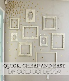 DIY Frame And Dot Decor