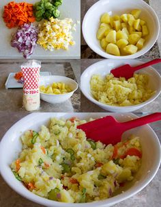 Making Japanese potato salad- use vegan mayo to make allergy free Japanese Potato Salad, Potato Salad Dill, Potato Salad Mustard, Potato Salad With Egg, Korean Potato Salad, Japanese Cucumber, Japanese Side Dish, Japanese Dishes, Japanese Food