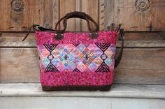 One of our gorgeous pink guatemalan weekender bags! Guatemala bags are truly the best!