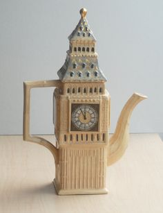 Items similar to Price Kensington Big Ben teapot . on Etsy Teapots And Cups, Teacups, Teapot Cookies, Tea Blog, Tea For One, Cuppa Tea, Tea Cozy, Tea Service, Chocolate Pots