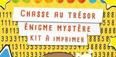 Chasse au trésor énigme mystère pour enfant – KIT à imprimer