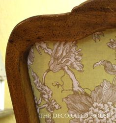 The Decorated House: ~ Dining Chair Upholstery How-To ...The Backside of A Good Chair Tale