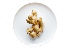 fresh ginger on white by IriGri on @creativemarket