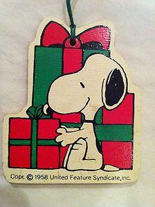 Snoopy Christmas Tag