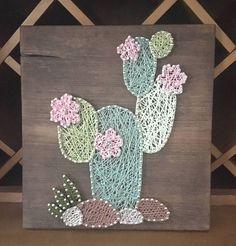 Cactus cadena arte vivero decoración pared rústica arte