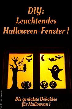 Eine einfache und effektvolle Bastelidee für Halloween