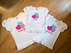Valentine shirts for sisters!