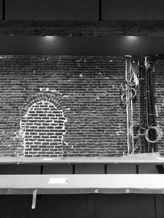 View from both sides of The #Bar Morgan's On Main with bit of #brick and wires #visitwoodland #interiordesigns #sacramentodesigner