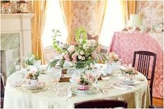 Vintage Tea Table Setting