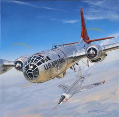 X-15 dropped by B-29 bomber