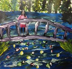 This art teacher's blog has some great ideas.  This one incorporates Monet and technology.