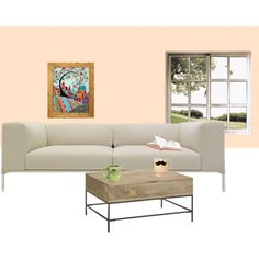 Pastel Living Room, created by darkvht on Polyvore
